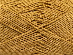 Fiber Content 100% Mercerised Giza Cotton, Brand Ice Yarns, Gold, Yarn Thickness 2 Fine  Sport, Baby, fnt2-66920
