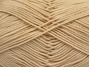 İçerik 100% Mercerised Giza Cotton, Brand Ice Yarns, Dark Cream, Yarn Thickness 2 Fine  Sport, Baby, fnt2-66921