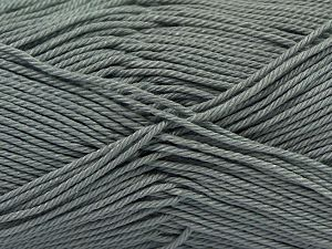 İçerik 100% Mercerised Giza Cotton, Brand Ice Yarns, Grey, Yarn Thickness 2 Fine  Sport, Baby, fnt2-66924