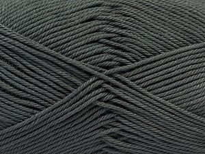 Fiber Content 100% Mercerised Giza Cotton, Brand Ice Yarns, Dark Grey, Yarn Thickness 2 Fine  Sport, Baby, fnt2-66925