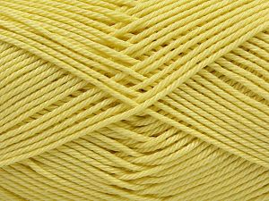 Fiber Content 100% Mercerised Giza Cotton, Light Yellow, Brand Ice Yarns, Yarn Thickness 2 Fine  Sport, Baby, fnt2-66933