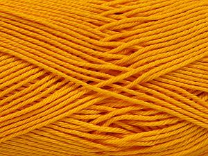 İçerik 100% Mercerised Giza Cotton, Brand Ice Yarns, Dark Yellow, Yarn Thickness 2 Fine  Sport, Baby, fnt2-66935