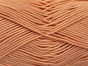 İçerik 100% Mercerised Giza Cotton, Light Orange, Brand Ice Yarns, Yarn Thickness 2 Fine  Sport, Baby, fnt2-66936