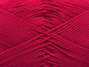 İçerik 100% Mercerised Giza Cotton, Brand Ice Yarns, Fuchsia, Yarn Thickness 2 Fine  Sport, Baby, fnt2-66938