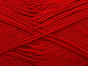 İçerik 100% Mercerised Giza Cotton, Red, Brand Ice Yarns, Yarn Thickness 2 Fine  Sport, Baby, fnt2-66940