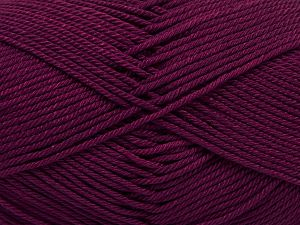İçerik 100% Mercerised Giza Cotton, Brand Ice Yarns, Dark Burgundy, Yarn Thickness 2 Fine  Sport, Baby, fnt2-66942