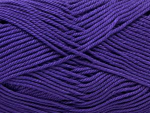 İçerik 100% Mercerised Giza Cotton, Lavender, Brand Ice Yarns, Yarn Thickness 2 Fine  Sport, Baby, fnt2-66943