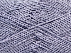 Fiber Content 100% Mercerised Giza Cotton, Light Lilac, Brand Ice Yarns, Yarn Thickness 2 Fine  Sport, Baby, fnt2-66945