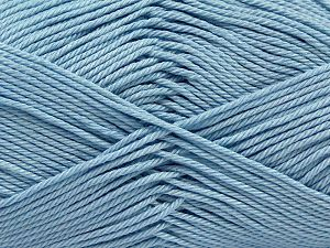 İçerik 100% Mercerised Giza Cotton, Light Blue, Brand Ice Yarns, Yarn Thickness 2 Fine  Sport, Baby, fnt2-66947