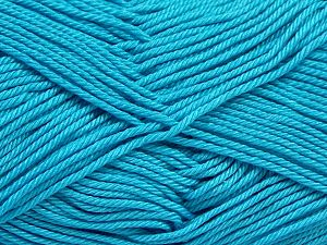 Fiber Content 100% Mercerised Giza Cotton, Turquoise, Brand Ice Yarns, Yarn Thickness 2 Fine  Sport, Baby, fnt2-66948