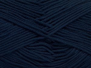 İçerik 100% Mercerised Giza Cotton, Brand Ice Yarns, Dark Navy, Yarn Thickness 2 Fine  Sport, Baby, fnt2-66949