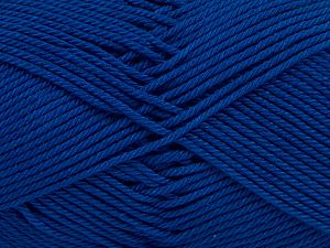 İçerik 100% Mercerised Giza Cotton, Royal Blue, Brand Ice Yarns, Yarn Thickness 2 Fine  Sport, Baby, fnt2-66951