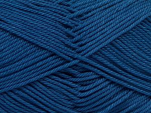 İçerik 100% Mercerised Giza Cotton, Jeans Blue, Brand Ice Yarns, Yarn Thickness 2 Fine  Sport, Baby, fnt2-66952