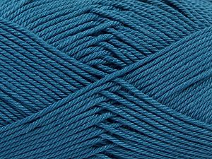 İçerik 100% Mercerised Giza Cotton, Indigo Blue, Brand Ice Yarns, Yarn Thickness 2 Fine  Sport, Baby, fnt2-66953