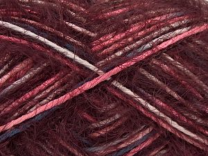 Fiber Content 55% Acrylic, 45% Polyamide, White, Pink, Brand Ice Yarns, Burgundy, Blue, Yarn Thickness 4 Medium  Worsted, Afghan, Aran, fnt2-66954