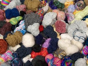 Leftover Yarns This item includes 'Leftover' yarn. You will get what you see in the photo. In this list; you see most recent 50 mixed lots. <br> To see all <a href=&/mixed_lots/o/4#list&>CLICK HERE</a> (Old ones have much better deals)<hr> Brand Ice Yarns, fnt2-66966