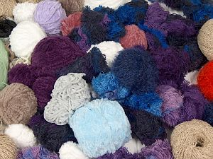 Leftover Yarns This item includes 'Leftover' yarn. You will get what you see in the photo. In this list; you see most recent 50 mixed lots. <br> To see all <a href=&/mixed_lots/o/4#list&>CLICK HERE</a> (Old ones have much better deals)<hr> Brand Ice Yarns, fnt2-66967