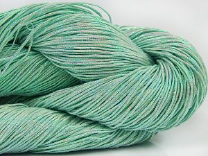 Please note that this is a hand-dyed yarn. Colors in different lots may vary because of the charateristics of the yarn. Also see the package photos for the colorway in full; as skein photos may not show all colors. İçerik 60% Metalik Simli, 40% Pamuk, Light Green, Brand Ice Yarns, Yarn Thickness 2 Fine  Sport, Baby, fnt2-66979