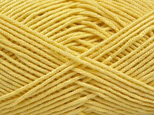 Fiber Content 50% Bamboo, 50% Acrylic, Light Yellow, Brand Ice Yarns, Yarn Thickness 2 Fine  Sport, Baby, fnt2-66983