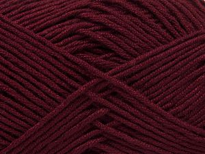 Fiber Content 50% Bamboo, 50% Acrylic, Brand Ice Yarns, Burgundy, Yarn Thickness 2 Fine  Sport, Baby, fnt2-66984