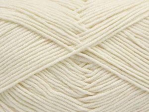 Fiber Content 50% Acrylic, 50% Cotton, Brand Ice Yarns, Ecru, Yarn Thickness 2 Fine  Sport, Baby, fnt2-67015