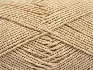 Fiber Content 50% Acrylic, 50% Cotton, Brand Ice Yarns, Dark Cream, Yarn Thickness 2 Fine  Sport, Baby, fnt2-67016