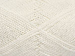 Fiber Content 100% Cotton, White, Brand Ice Yarns, Yarn Thickness 2 Fine  Sport, Baby, fnt2-67023