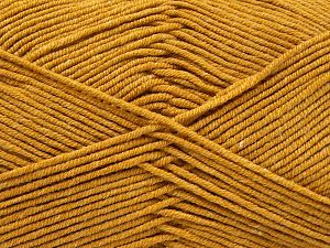 Fiber Content 50% Cotton, 50% Acrylic, Brand Ice Yarns, Gold, Yarn Thickness 2 Fine  Sport, Baby, fnt2-67043