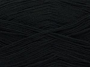 Very thin yarn. It is spinned as two threads. So you will knit as two threads. Yardage information is for only one strand. Fiber Content 100% Acrylic, Brand Ice Yarns, Black, fnt2-67044