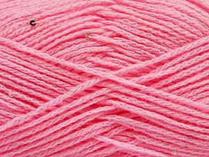Fiber Content 98% Acrylic, 2% Paillette, Pink, Brand Ice Yarns, Yarn Thickness 4 Medium Worsted, Afghan, Aran, fnt2-67047