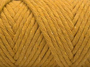 Fiber Content 100% Cotton, Brand Ice Yarns, Dark Yellow, Yarn Thickness 6 SuperBulky  Bulky, Roving, fnt2-67054