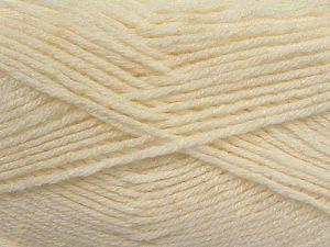 Contenido de fibra 76% Acrílico, 14% Algodón, 10% De bambú, White, Brand Ice Yarns, Cream, Yarn Thickness 2 Fine  Sport, Baby, fnt2-67076