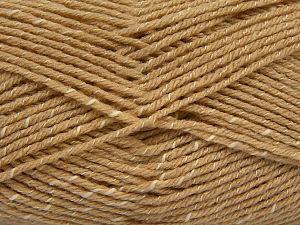 Fiber Content 76% Acrylic, 14% Cotton, 10% Bamboo, Light Camel, Brand Ice Yarns, Cream, Yarn Thickness 2 Fine  Sport, Baby, fnt2-67078