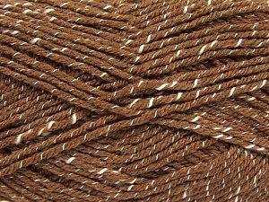 Fiber Content 76% Acrylic, 14% Cotton, 10% Bamboo, Light Brown, Brand Ice Yarns, Cream, Yarn Thickness 2 Fine  Sport, Baby, fnt2-67079