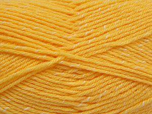 Fiber Content 76% Acrylic, 14% Cotton, 10% Bamboo, Yellow, Brand Ice Yarns, Cream, Yarn Thickness 2 Fine  Sport, Baby, fnt2-67080