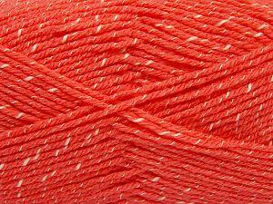 Fiber Content 76% Acrylic, 14% Cotton, 10% Bamboo, Salmon, Brand Ice Yarns, Cream, Yarn Thickness 2 Fine  Sport, Baby, fnt2-67084