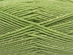 Fiber Content 76% Acrylic, 14% Cotton, 10% Bamboo, Light Green, Brand Ice Yarns, Cream, Yarn Thickness 2 Fine  Sport, Baby, fnt2-67089