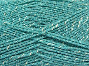 Fiber Content 76% Acrylic, 14% Cotton, 10% Bamboo, Light Turquoise, Brand Ice Yarns, Cream, Yarn Thickness 2 Fine  Sport, Baby, fnt2-67093
