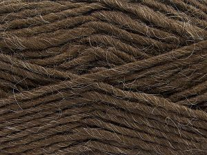 Fiber Content 85% Acrylic, 5% Mohair, 10% Wool, Brand Ice Yarns, Coffee Brown, Yarn Thickness 5 Bulky  Chunky, Craft, Rug, fnt2-67097