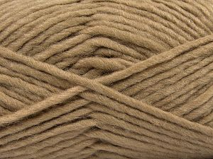 Fiber Content 85% Acrylic, 5% Mohair, 10% Wool, Brand Ice Yarns, Camel, Yarn Thickness 5 Bulky  Chunky, Craft, Rug, fnt2-67099
