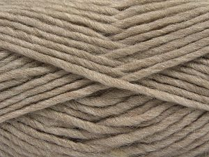Fiber Content 85% Acrylic, 5% Mohair, 10% Wool, Light Camel, Brand Ice Yarns, Yarn Thickness 5 Bulky  Chunky, Craft, Rug, fnt2-67100