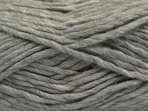 Fiber Content 85% Acrylic, 5% Mohair, 10% Wool, Light Grey, Brand Ice Yarns, Yarn Thickness 5 Bulky  Chunky, Craft, Rug, fnt2-67102