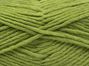 Fiber Content 85% Acrylic, 5% Mohair, 10% Wool, Light Green, Brand Ice Yarns, Yarn Thickness 5 Bulky  Chunky, Craft, Rug, fnt2-67103