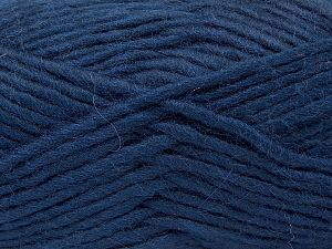 Fiber Content 85% Acrylic, 5% Mohair, 10% Wool, Navy, Brand Ice Yarns, Yarn Thickness 5 Bulky  Chunky, Craft, Rug, fnt2-67106