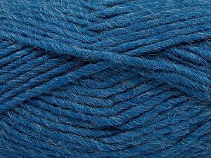 Fiber Content 85% Acrylic, 5% Mohair, 10% Wool, Jeans Blue, Brand Ice Yarns, Yarn Thickness 5 Bulky  Chunky, Craft, Rug, fnt2-67110