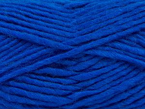 Fiber Content 85% Acrylic, 5% Mohair, 10% Wool, Brand Ice Yarns, Dark Blue, Yarn Thickness 5 Bulky  Chunky, Craft, Rug, fnt2-67112