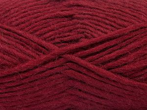 Fiber Content 85% Acrylic, 5% Mohair, 10% Wool, Brand Ice Yarns, Burgundy, Yarn Thickness 5 Bulky  Chunky, Craft, Rug, fnt2-67113