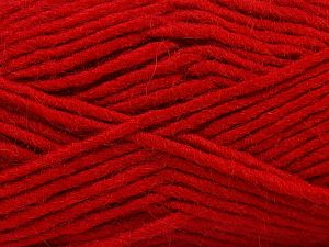 Fiber Content 85% Acrylic, 5% Mohair, 10% Wool, Red, Brand Ice Yarns, Yarn Thickness 5 Bulky  Chunky, Craft, Rug, fnt2-67114