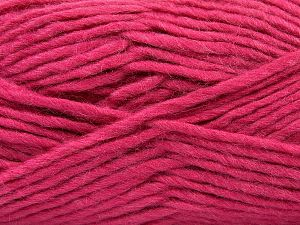 Fiber Content 85% Acrylic, 5% Mohair, 10% Wool, Brand Ice Yarns, Fuchsia, Yarn Thickness 5 Bulky  Chunky, Craft, Rug, fnt2-67118