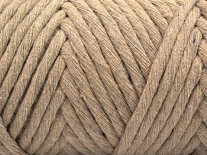 Fiber Content 100% Cotton, Light Camel, Brand Ice Yarns, Yarn Thickness 6 SuperBulky  Bulky, Roving, fnt2-67137